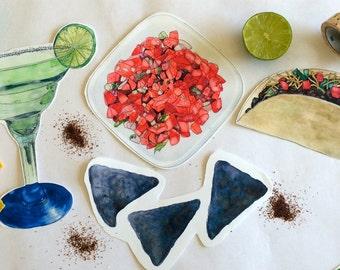 Food watercolor   Etsy