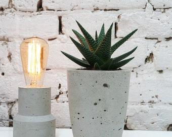 Concrete Planter - Geometric Style, Handmade Cachepot Modern Geometric Style, Succulent planter, Beton planter, Grey Planter, Planter
