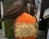 Primitive Make do Crow Bird Fall Halloween Pumpkin Pin keep Cloth doll Hafair FAAP