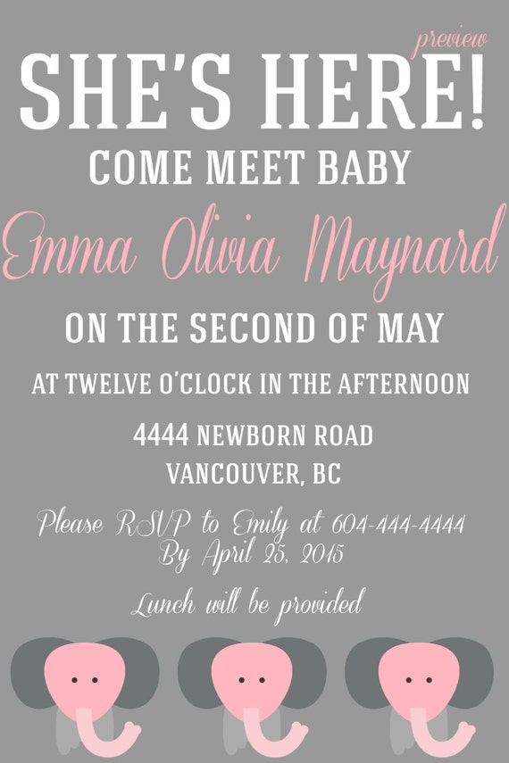 Items Similar To A Baby Must Meet Greet Invitation On Etsy