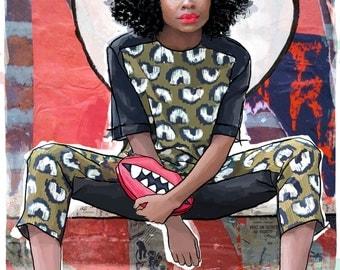 Handdrawn Fashion Illustration Print