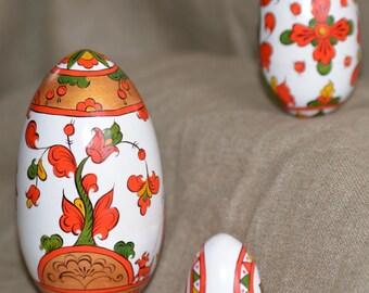 "Egg-trundle ""Severo-Dvinsk painting"""