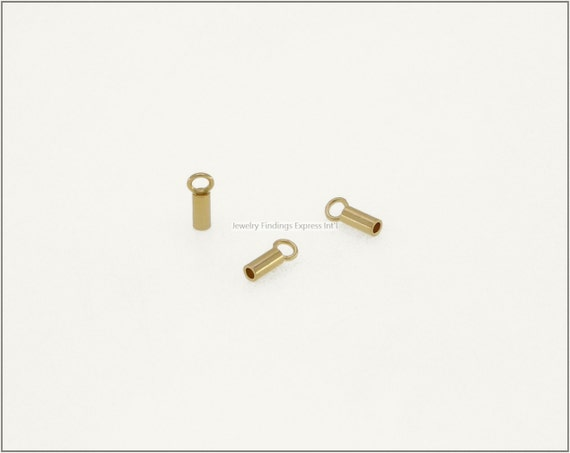 20 pc.+  1.2mm Crimp End Cap, Crimp Ends, Cord Ends, Chain Ends for Cords & Chains -Gold Plating
