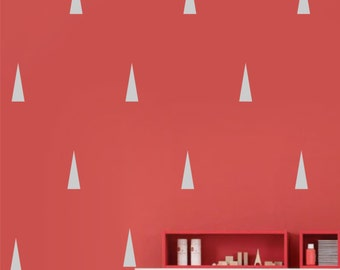 Elongated Triangle Wall Decal Sticker set for nursery boy girl room bedroom wall art decoration - REMOVABLE 1042