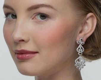 Vintage Earrings, Chandelier Earrings, Wedding Earrings, Bridal Earrings, Wedding Jewelry, Bridal Jewelry, Chetna Statement Earrings