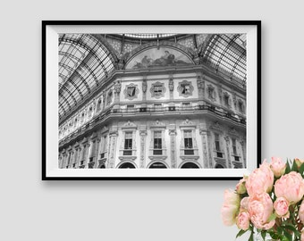 Milan Print Italy Architectural print Architecture Italian Art black white Architectural Instant Download Fine Art Photography Italy Milano