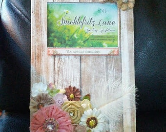 So Sweet Picture Frame/4x6 Photo/Brown and Pink/You Are My Sunshine/Wall Frame/Handmade/Embellished/Photo Frame