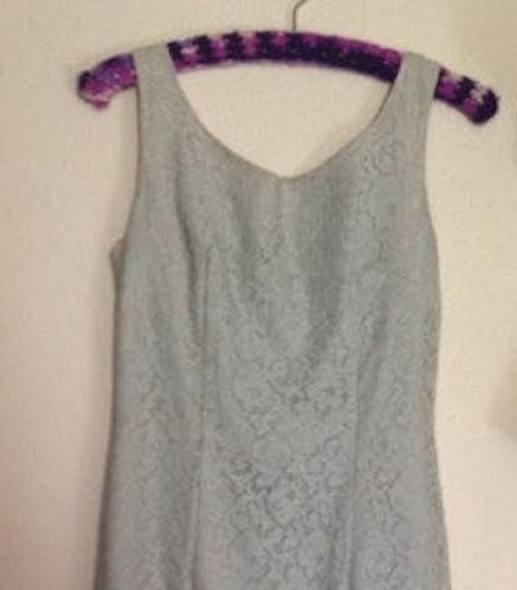 SALE! Ice Blue Lace Wiggle Dress
