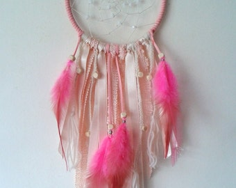 Native american dream catcher pink 11cm