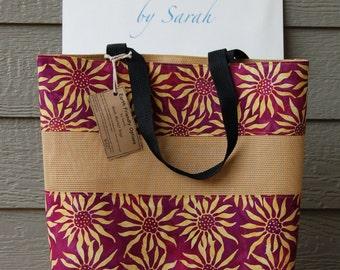 Sunflower Batik Mesh Market Bag