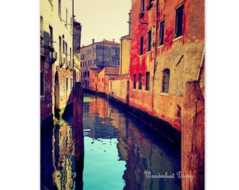 Venice Print, Travel Photography, Venice Wall Art, Rustic Venice Photography, Fine Art Print, Large Wall Art, Bedroom Decor, Home Art Decor