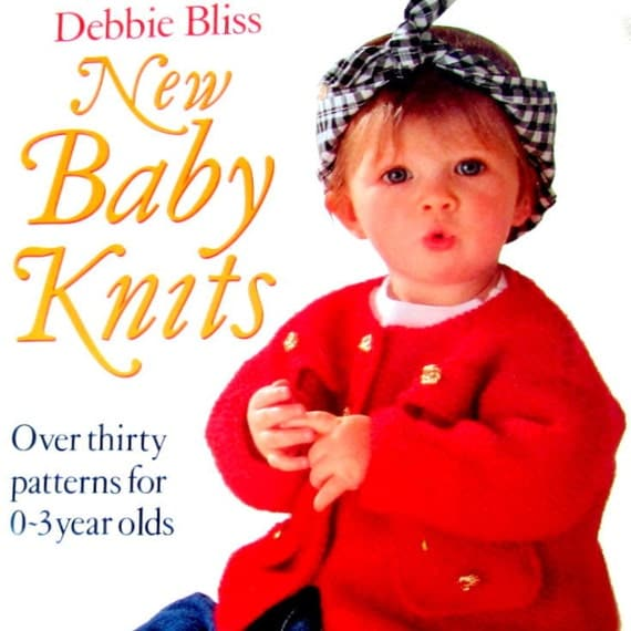 SALE//Debbie Bliss New Baby Knitting book Over by CraftyBookNook