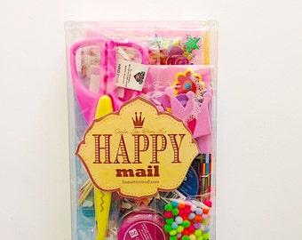 Happy Mail Letter Writing Kit, snail mail kit, snailmail kit, letter writing set, letter writing supply, stationery, pen pal kit, gift idea