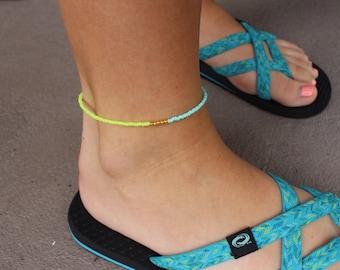 Neon Summer Anklet