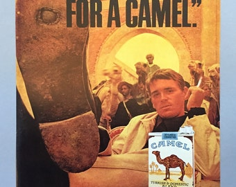 "1967 Camel Cigarette Print Ad - ""I'd walk a mile for a Camel"""