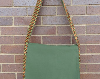 Messenger Bag: Maria Orange and Green