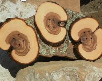 """Giant Juniper Wood Button- Handmade Button 4.25"""" x 3"""" (4001)"""