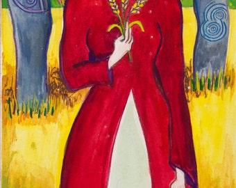 Celtic Goddess Art - Grainne, Celtic Sun Goddess/Winter Queen