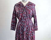 1950s Dress • 1950s Plus Size Dress • 50s Dress • 50s XL Dress • 1950s Print Dress • Shelton Stroller Dress • Floral Dress • Tulip Dress XXL