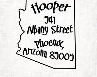 Arizona Personalized Return Address State Stamp
