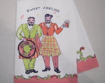 Vintage Towel Bar Men Harmonize on Sweet Adeline