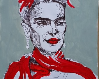 Frida face study #2