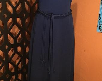 Bleeker Street Vintage Navy Blue Maxi Dress