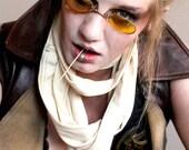 Oval Yellow Sunglasses  Costume Eye wear Gothic Glasses Steampunk Eyeglasses