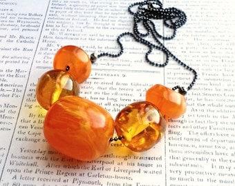 Saffron Resin Necklace