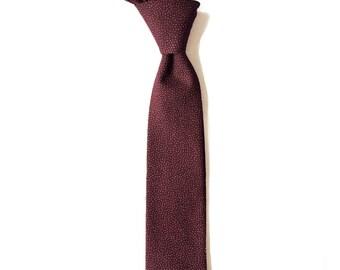LAST FEW // Sangria - Reddish Purple Pin Dotted Men's Tie