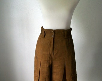 Amazing Plaid Mondi Culottes Made in West Germany by Mondi - Skort Skirt Shorts 70s 80s