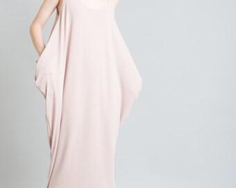 Maxi Kaftan Dress / Oversized Dress / Black Dress / Casual Dress / Loose Dress / Sleeveless Summer Dress / Marcellamoda - MD0009