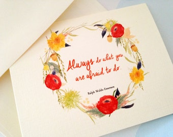 Greeting Card Set, Inspirational Card, Note Cards, Set of 6