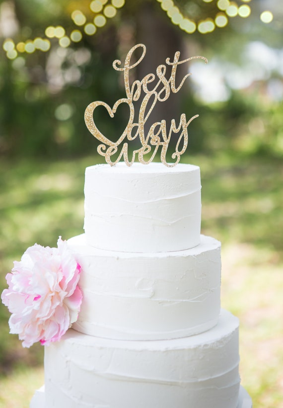 best wedding cake toppers ever wedding cake topper best day floating topper glitter 11703