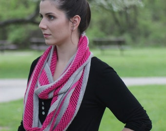 LACED Infinity Scarf Knitting Pattern PDF