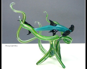 Sea Life Glass Sculpture Hammer Head Decor