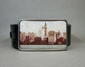 Belt Buckle Vintage New York City NYC Skyline Cool Gift for Men or Women