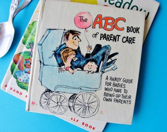 Vintage Baby Book 1967 The ABC Book of Parent Care Illustrated By Lynn Wheeling  Humorous Great Graphics Sunbeam Library American Greetings