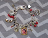 A few of Audrey Horne's favorite things, Twin Peaks inspired charm bracelet. Includes framed Audrey photo, and most of her favorite things..