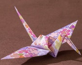 6 inches patterned cranes (32 pieces in purple)