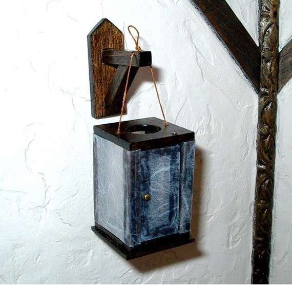 Medieval Lantern And Wall Bracket Rustic Dollhouse Miniature