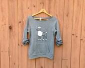 Stylin' Poodle Sweatshirt, Poodle Sweater, Fun Shirt, S,M,L,XL