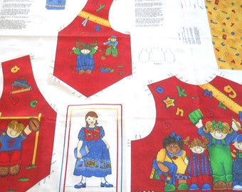 Jelly Bean Junction School Days Child's Vest - Sewing Fabric Panel