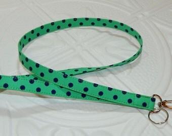 Key Lanyard Badge Lanyard Teacher Lanyard  Kelly Green