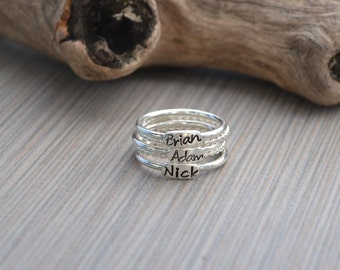 Stackable rings Personalized .925 sterling silver
