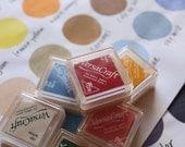 2 versacraft ink pads. versa craft rubber stamp ink pad. multipurpose ink for fabric paper wood leather. diy wedding. card making. choose 2