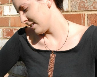 Chain Necklace Copper Chain Copper Necklace Cool Necklace Long Fashion Pendant Edgy Necklace Funky Necklace