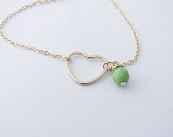 Heart minimalist stackable bracelet.  Minimalistic jewelry. Love bracelet