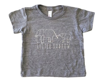 SALE Elephant // Little Shadow // Baby Toddler Child Tshirt // GRAY // American Apparel Tee :APlsSSg