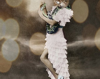 Willow,Cat Print,Anthropomorphic,Whimsical Art,Collage Art,Vintage Cat,Animal Print,Photo Collage,Altered Photo,Funny Animals,Unusual Gift
